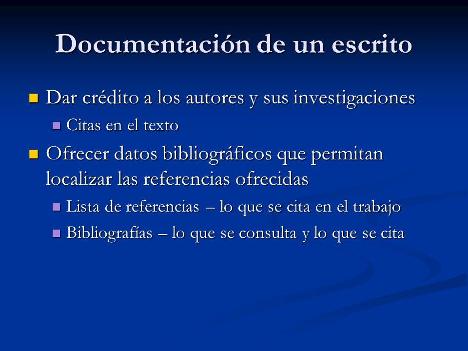 Elementos que identifican un documento ¿Quién lo escribió.