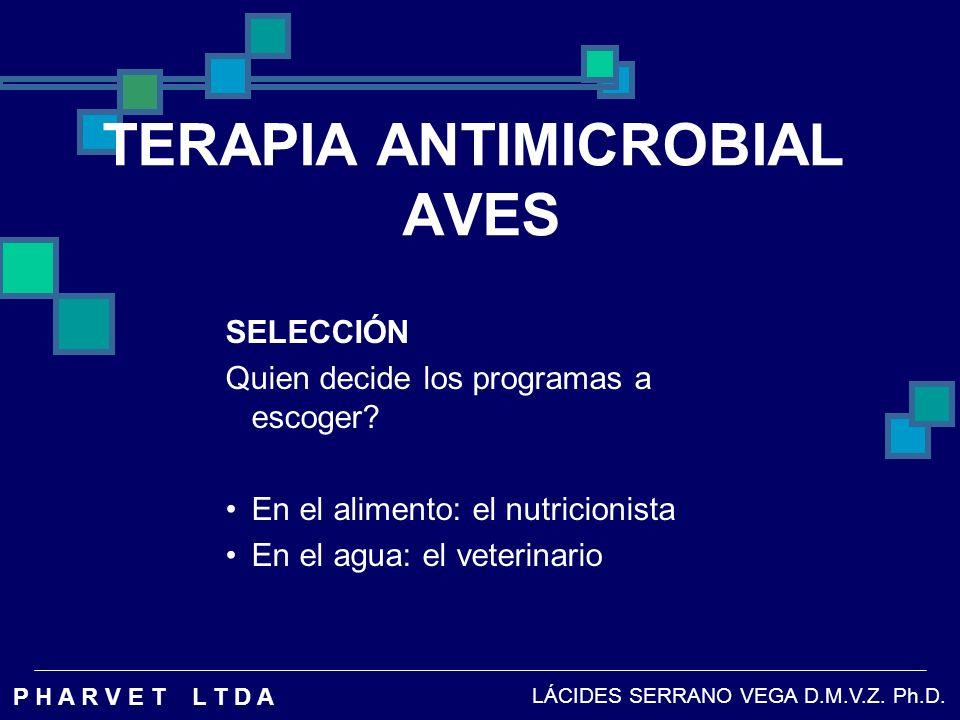 MICOPLASMA GALLISEPTICUM DE VARIOS ANTIBIÓTICOS.