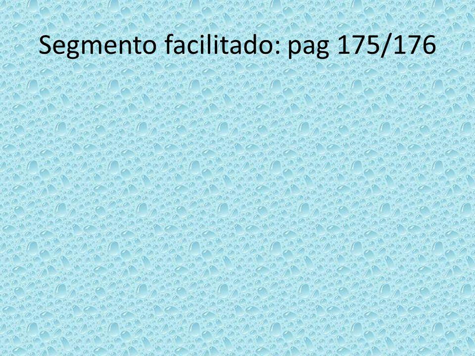 Segmento facilitado: pag 175/176