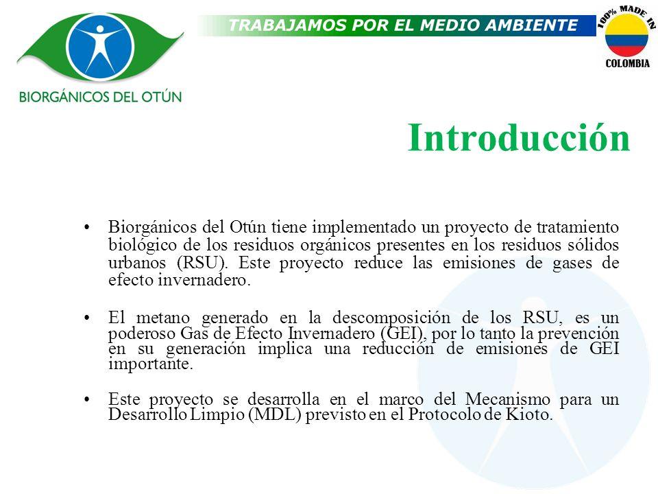 Introducción Biorgánicos del Otún tiene implementado un proyecto de tratamiento biológico de los residuos orgánicos presentes en los residuos sólidos
