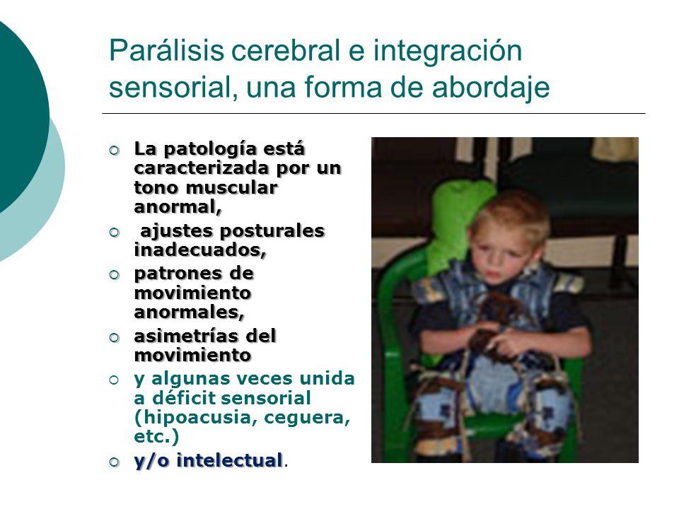 Parálisis cerebral e integración sensorial, una forma de abordaje La patología está caracterizada por un tono muscular anormal, La patología está cara