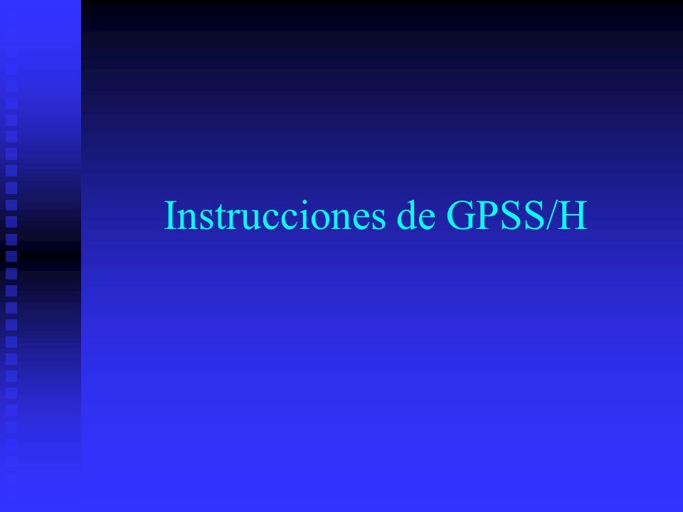 Instrucciones de GPSS/H