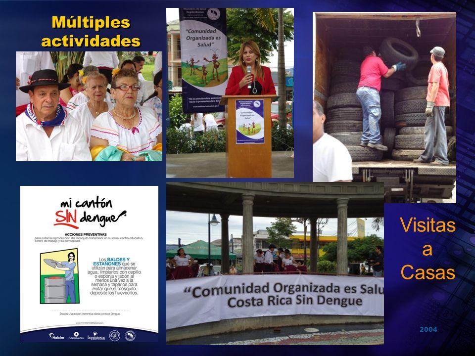 2004 Organización Panamericana de la Salud Múltiples actividades Visitas a Casas