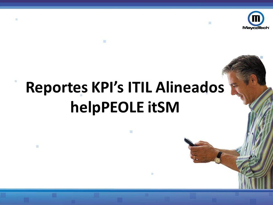 Reporte helpPEOLE itSM General Descripción CostosInformación sobre el costo que ocasiona cada servicio, relacionado con el valor que causa el problema o el incidente por hora y el costo técnico por hora Reporte dinámico SQLPermite diseñar de acuerdo a las necesidades de cada cliente y que manejan el lenguaje SQL, el tipo de reporte que se desee QuerySe diseña con base a la arquitectura de la BD y para información especifica.