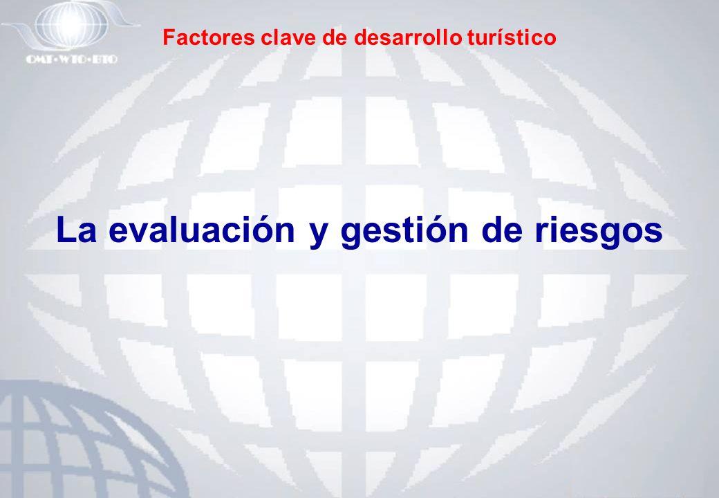 Factores clave de desarrollo turístico La evaluación y gestión de riesgos