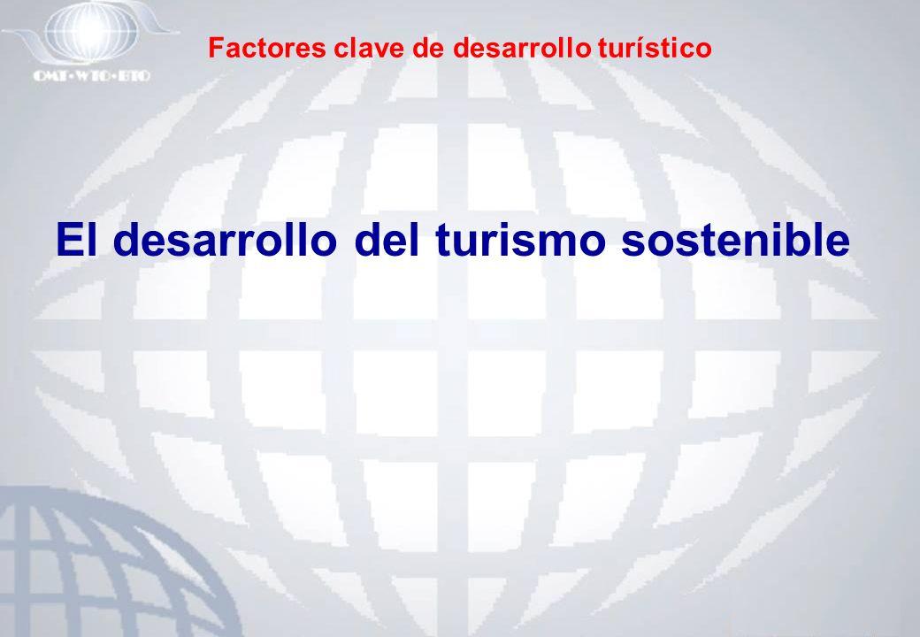 Factores clave de desarrollo turístico El desarrollo del turismo sostenible