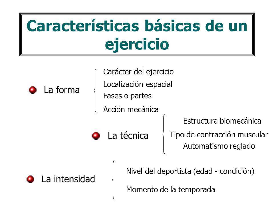 La sesión de entrenamiento Ejercicios competitivos Ejercicios preparatorios especiales Ejercicios preparatorios generales