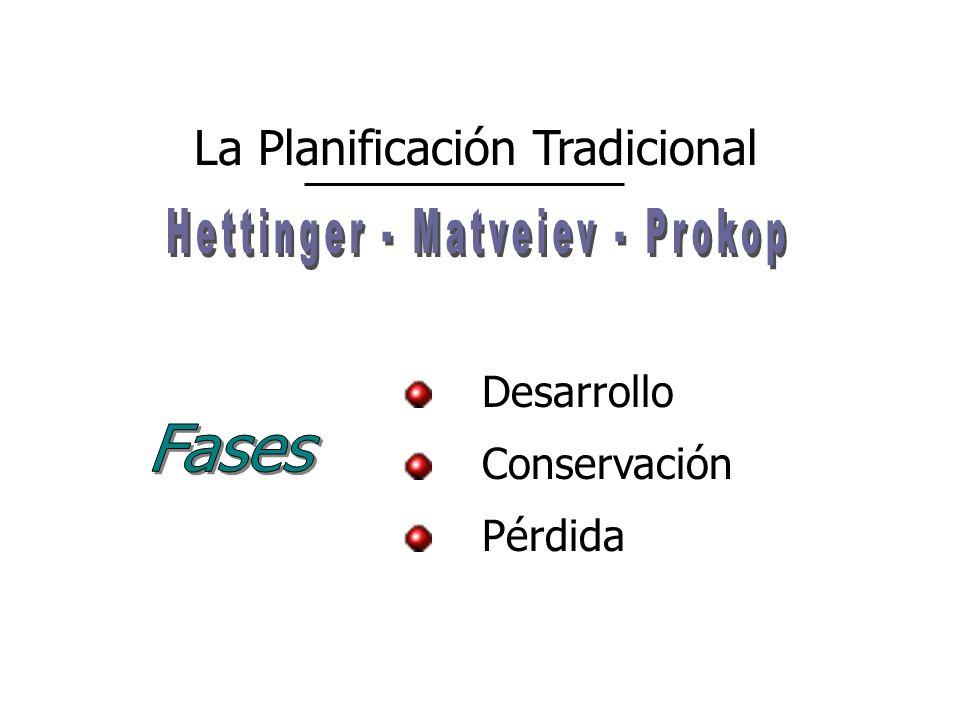 Desarrollo Pérdida Conservación La Planificación Tradicional