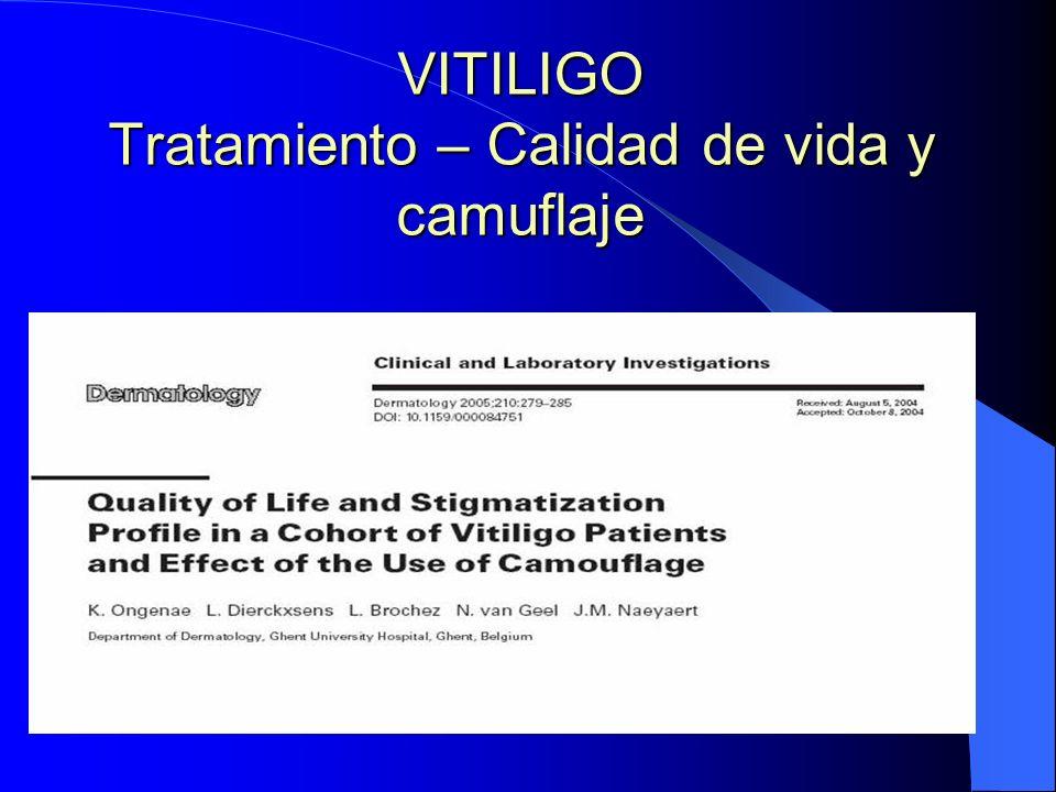 VITILIGO Tratamiento – Calidad de vida y camuflaje