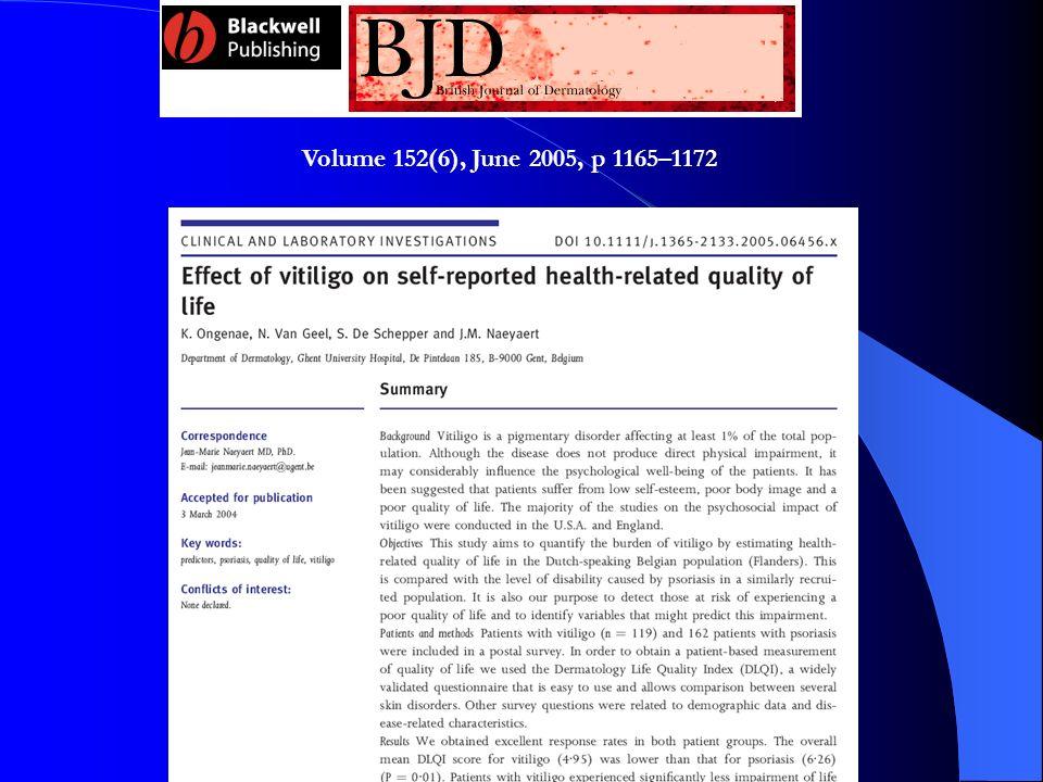 Volume 152(6), June 2005, p 1165–1172