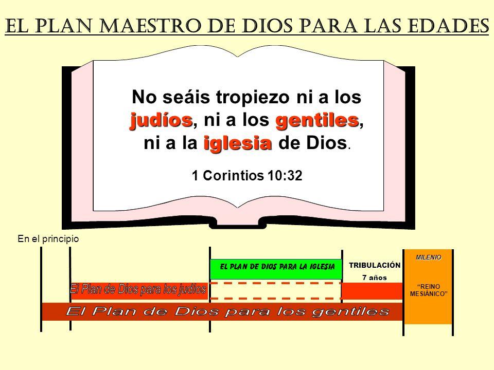 MILENIO REINO MESIÁNICO EL PLAN MAESTRO DE DIOS PARA LAs EDADES judíosgentiles iglesia No seáis tropiezo ni a los judíos, ni a los gentiles, ni a la i