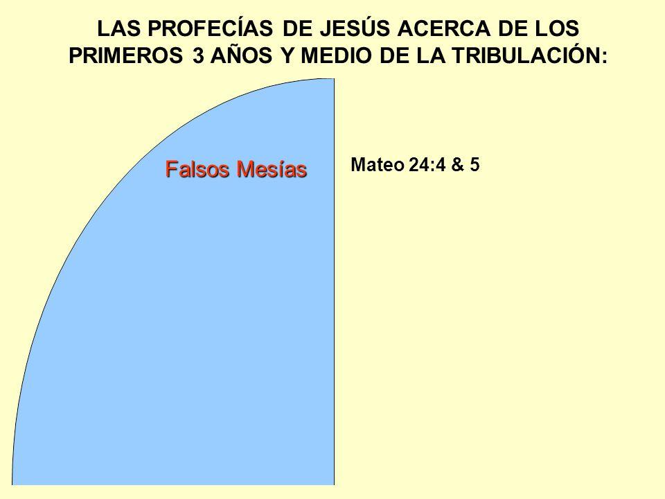 LAS PROFECÍAS DE JESÚS ACERCA DE LOS PRIMEROS 3 AÑOS Y MEDIO DE LA TRIBULACIÓN: Mateo 24:4 & 5 Falsos Mesías