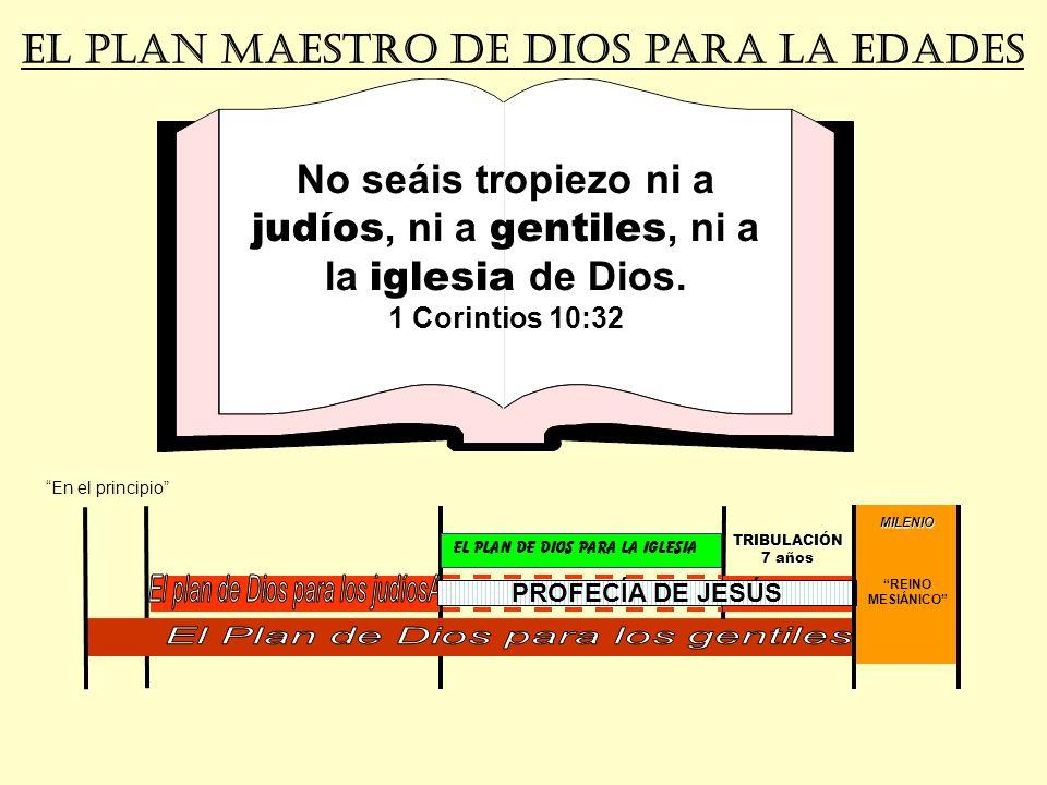 MILENIO REINO MESIÁNICO El PLAN MAESTRO de dios para la edades No seáis tropiezo ni a judíos, ni a gentiles, ni a la iglesia de Dios. 1 Corintios 10:3