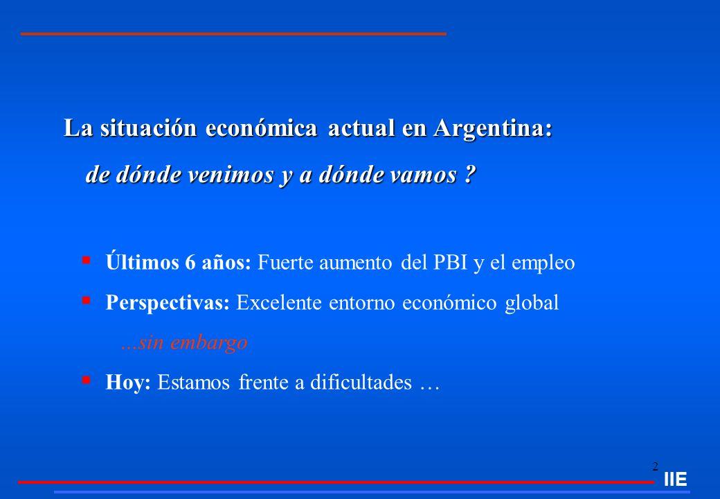 2 La situación económica actual en Argentina: de dónde venimos y a dónde vamos ? de dónde venimos y a dónde vamos ? Últimos 6 años: Fuerte aumento del