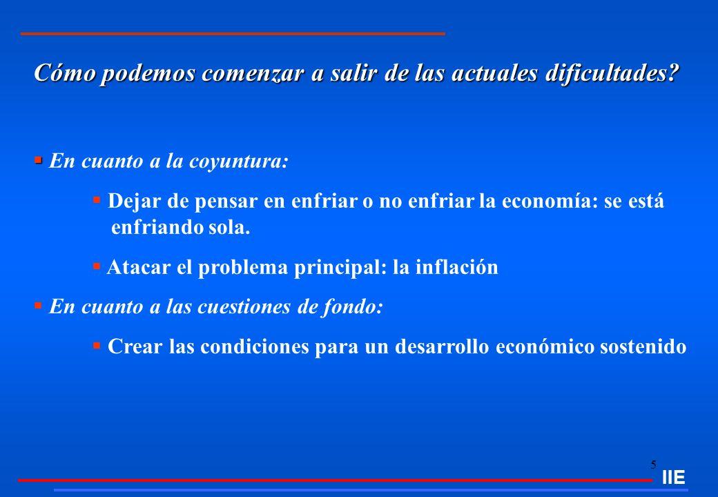 26 El entorno económico actual y su impacto sobre la El entorno económico actual y su impacto sobre la evolución y perspectivas del Sector Construcciones IIE