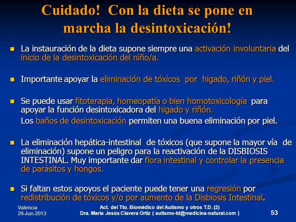 Valencia 29-Jun-2013 Act. del Tto. Biomédico del Autismo y otros T.D. (2) Dra. María Jesús Clavera Ortiz ( autismo-td@medicina-natural.com ) 53 Cuidad