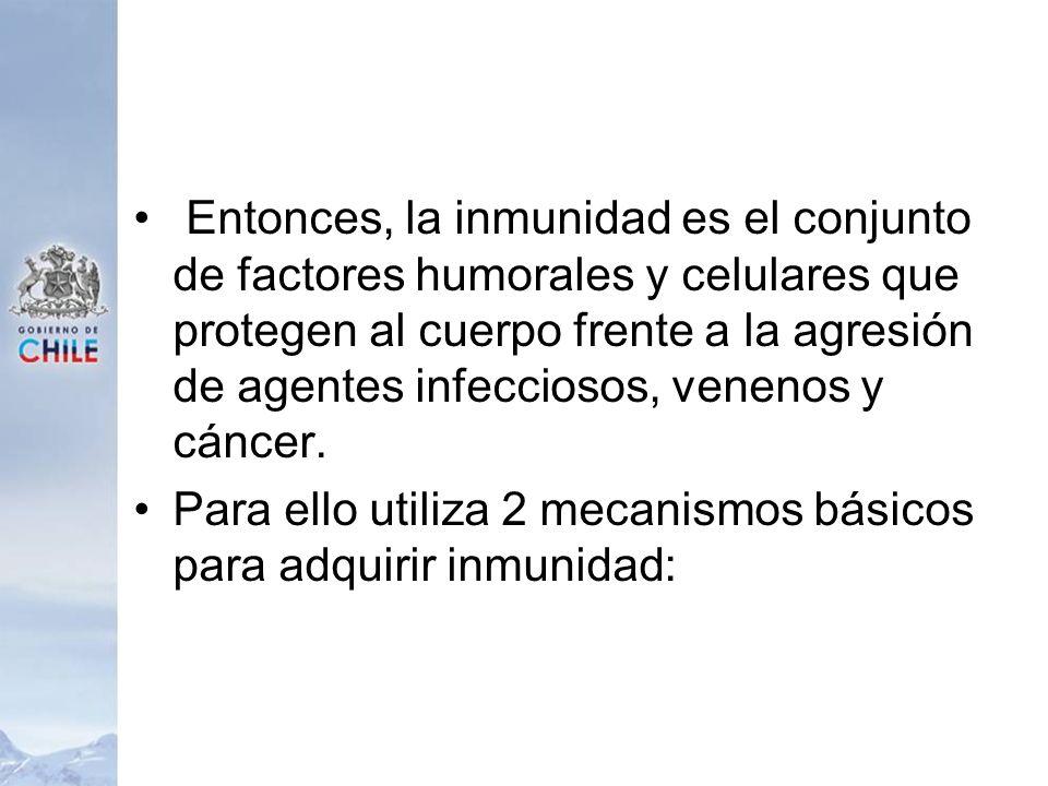 Entonces, la inmunidad es el conjunto de factores humorales y celulares que protegen al cuerpo frente a la agresión de agentes infecciosos, venenos y