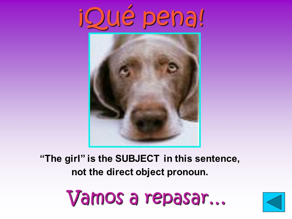 ¡Qué bueno! Puedes continuar… Puedes continuar… IT is the direct object pronoun which was substituted for the bicycle.