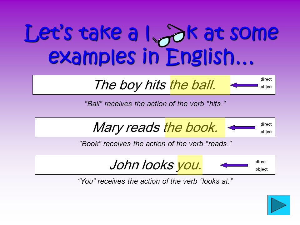 Los PODs en inglés The direct objects in the plain boxes are the SAME as the direct object pronouns.