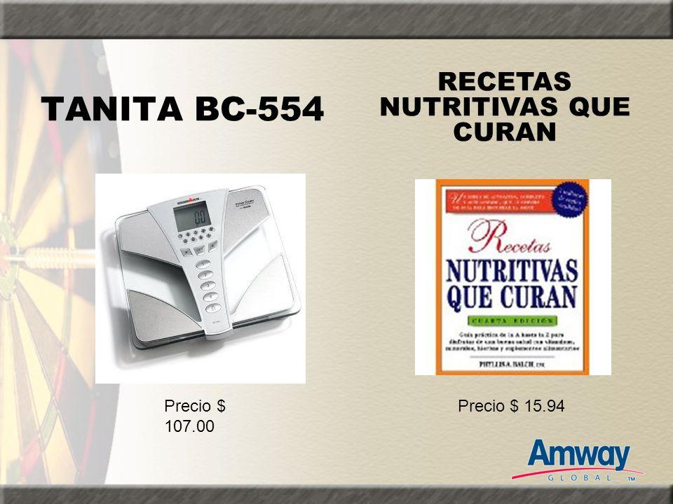 TANITA BC-554 RECETAS NUTRITIVAS QUE CURAN Precio $ 107.00 Precio $ 15.94