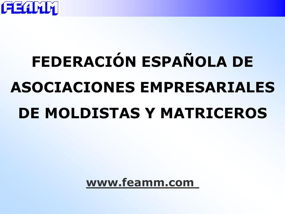 Asociaciones miembros de FEAMM Comunidad Autònoma Distribución del sector (%) ASCAMMCATALUÑA40,7 ASVEMAVALENCIANA11,3 ASVAMM PAÍS VASCO 11,7 AECIMMADRID8,6 Irumold, s.l.