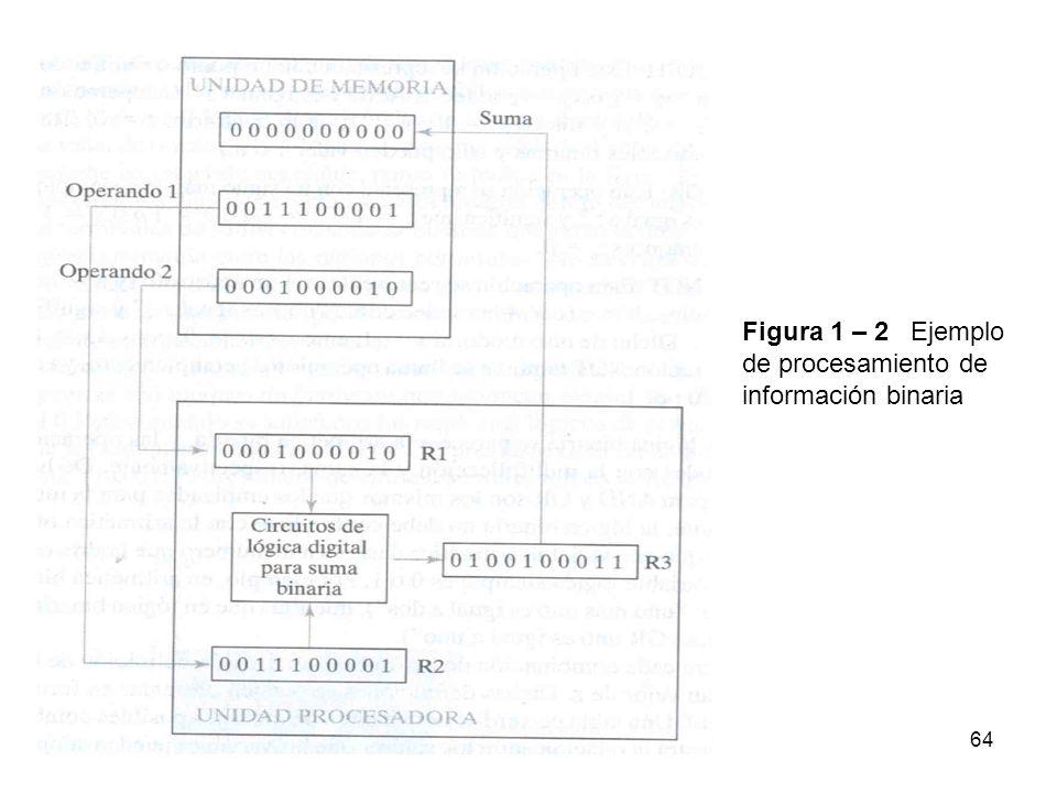 Figura 1 – 2 Ejemplo de procesamiento deinformación binaria 64