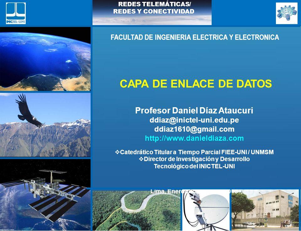 ddiaz@inictel-uni.edu.pe INSTITUTO NACIONAL DE INVESTIGACION Y CAPACITACION DE TELECOMUNICACIONES, INICTEL-UNI Propiedad intelectual de Daniel Díaz @ 2013 REDES TELEMÁTICAS/ REDES Y CONECTIVIDAD COMO INTERCONECTAR HOST n(n-1) 2 Enlaces en total Bus Anillo Conmutador