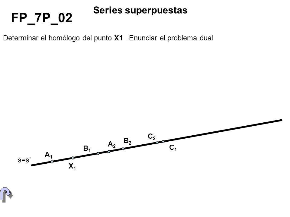 Determinar el otro punto doble en la proyectividad entre bases superpuestas.