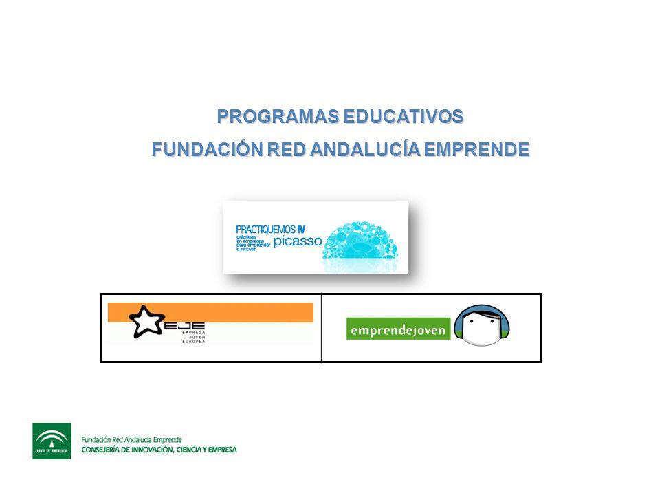 EMPRENDEJOVEN Organismos Participantes Este programa está promovido en Andalucía por: LA CONSEJERÍA DE EDUCACIÓN, a través de su Dirección General de Formación Profesional y Educación Permanente, y LA CONSEJERÍA DE INNOVACIÓN, CIENCIA Y EMPRESA a través de la Fundación Red Andalucía Emprende.