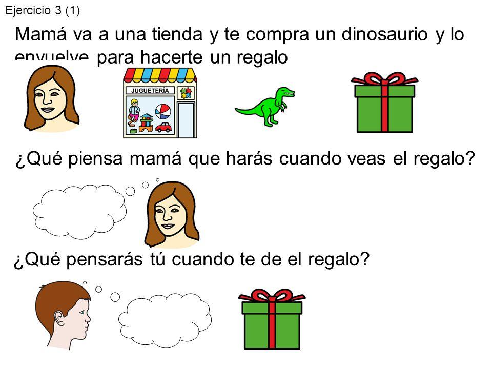 ¿Qué pensarás tú cuando veas el dinosaurio.¿cómo te sentirás tú.