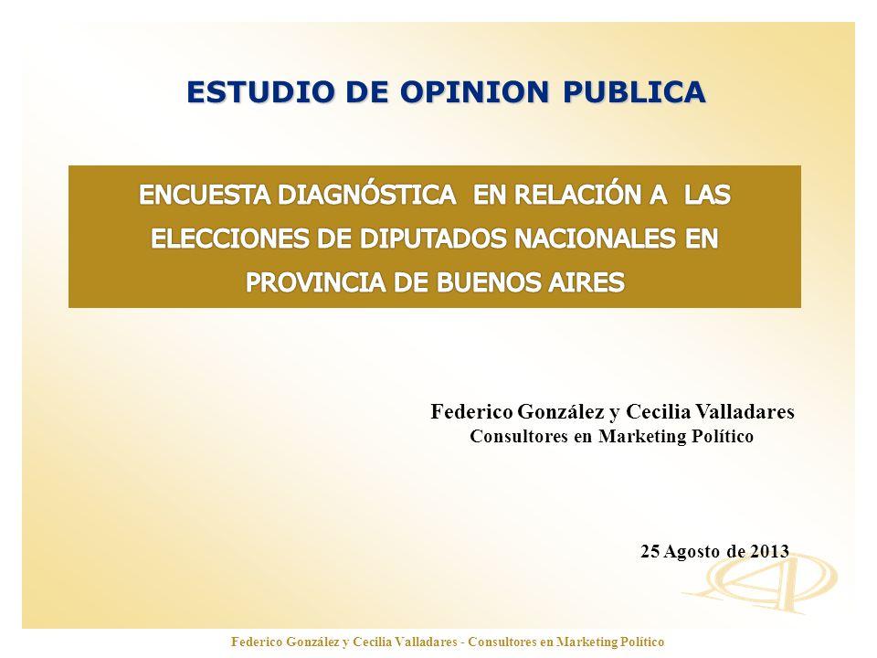 www.opinionautenticada.com ESTUDIO DE OPINION PUBLICA Federico González y Cecilia Valladares Consultores en Marketing Político 25 Agosto de 2013 Feder