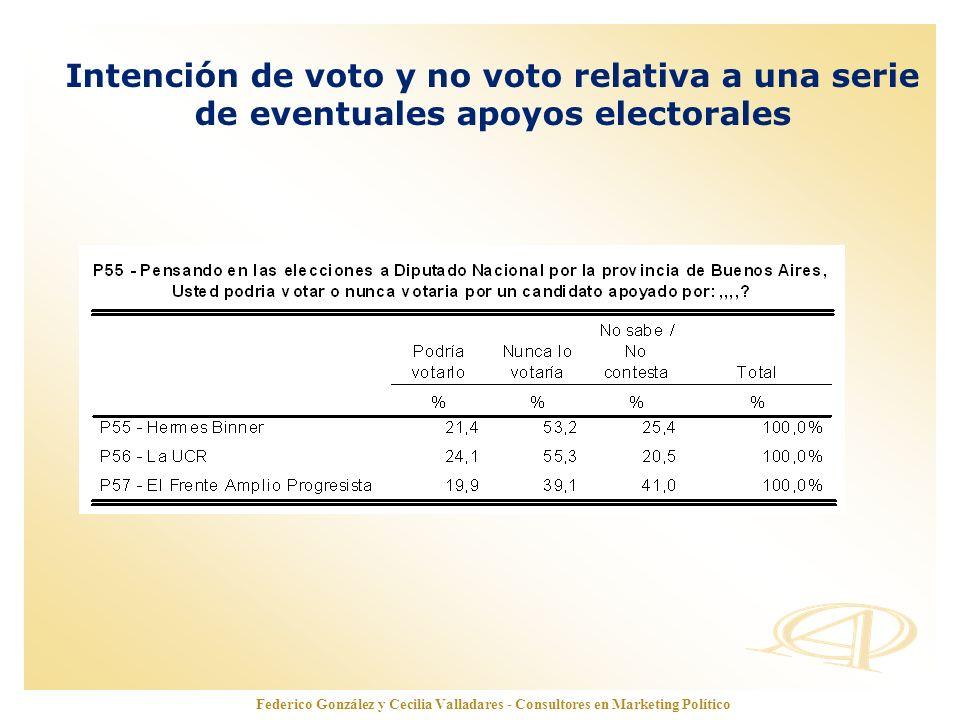 www.opinionautenticada.com Federico González y Cecilia Valladares - Consultores en Marketing Político Intención de voto y no voto relativa a una serie