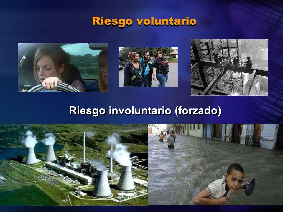 2004 Organización Panamericana de la Salud Riesgo voluntario Riesgo involuntario (forzado)