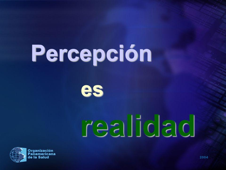 2004 Organización Panamericana de la Salud Percepción es esrealidad
