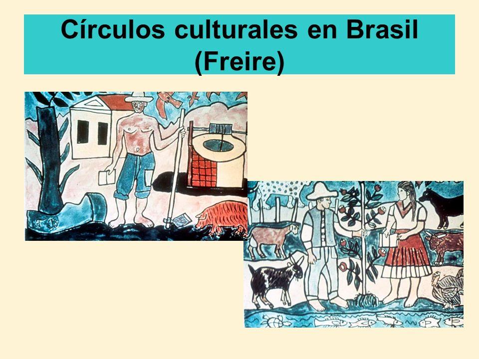 Freire: Propósitos de la educación El propósito de la educación es la liberación humana, la cual ocurre cuando la población se refleja sobre sí misma y su condición en el mundo – cuando ellos son más conscientes, pueden insertarse ellos mismos como sujetos en su propia historia (Freire, 1971).
