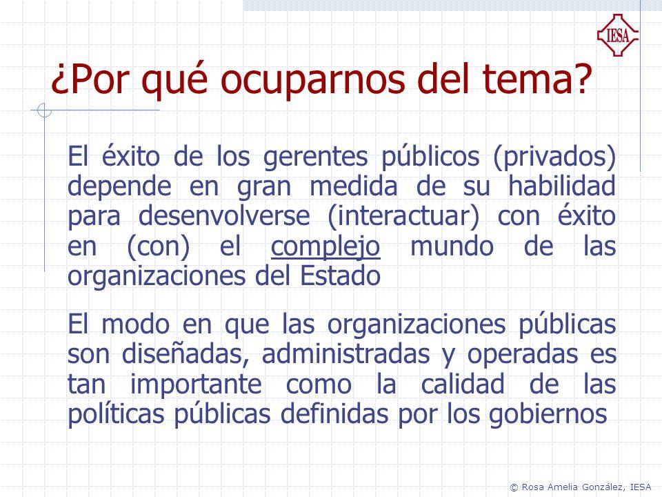 ¿Por qué ocuparnos del tema? El éxito de los gerentes públicos (privados) depende en gran medida de su habilidad para desenvolverse (interactuar) con
