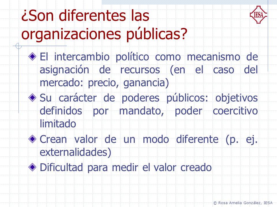 ¿Son diferentes las organizaciones públicas? El intercambio político como mecanismo de asignación de recursos (en el caso del mercado: precio, gananci