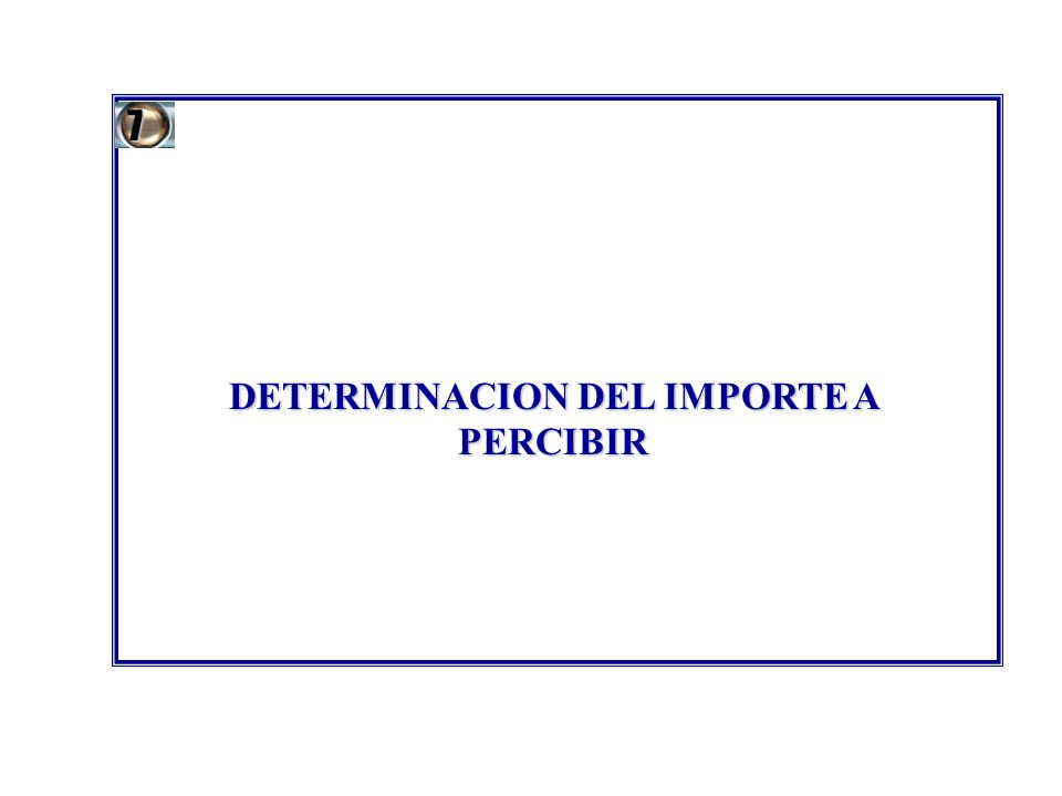 DETERMINACION DEL IMPORTE A PERCIBIR 7