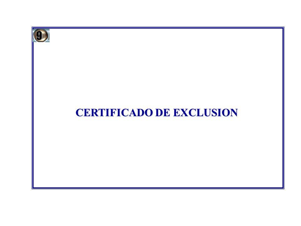 CERTIFICADO DE EXCLUSION 9