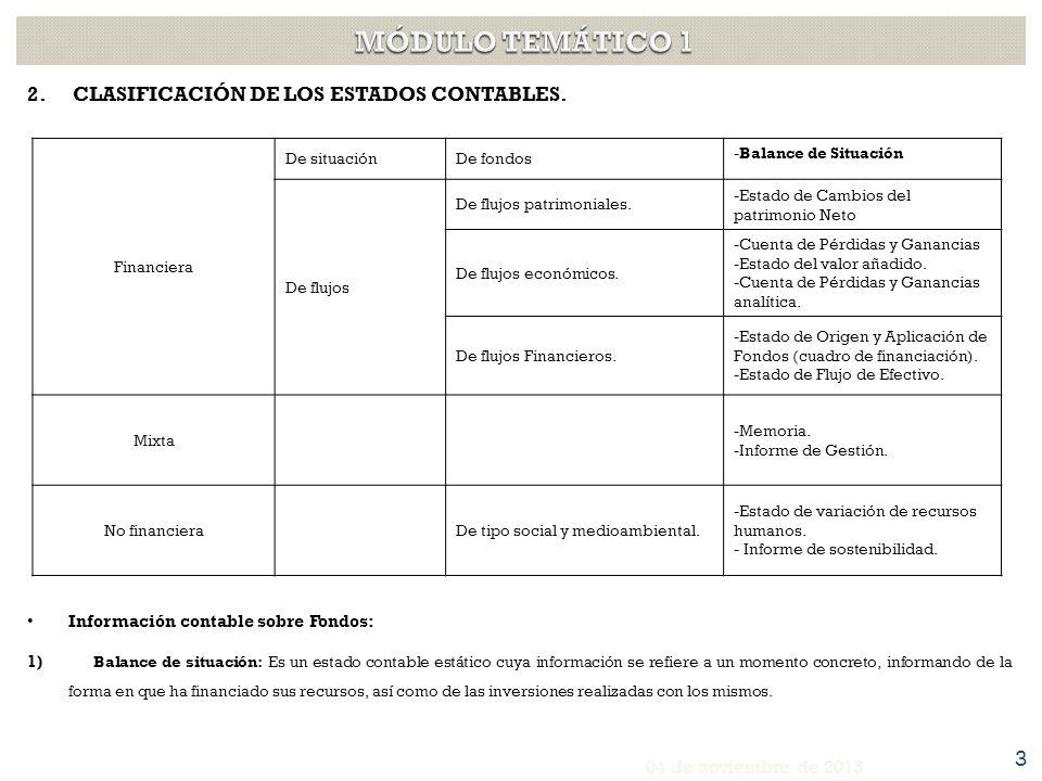 2.CLASIFICACIÓN DE LOS ESTADOS CONTABLES.