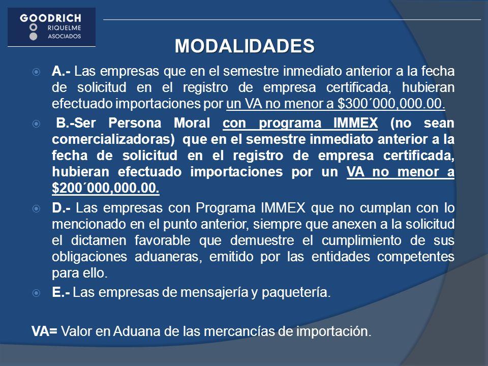L.- Nuevo Esquema de Empresa Certificada : Empresas controladoras en términos del Decreto IMMEX.