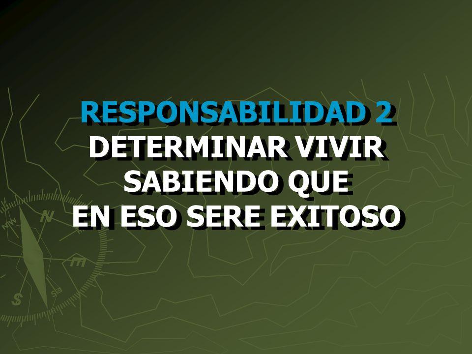 RESPONSABILIDAD 2 DETERMINAR VIVIR SABIENDO QUE EN ESO SERE EXITOSO