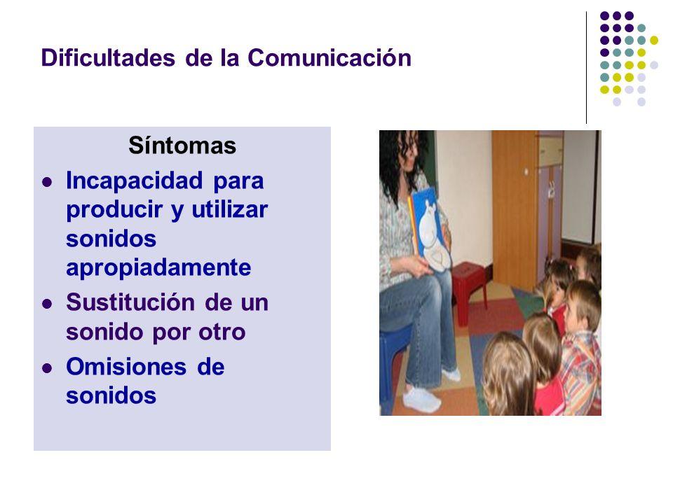 Dificultades de la Comunicación Existen varias causas en los trastornos relacionados con la producción de los sonidos del habla.