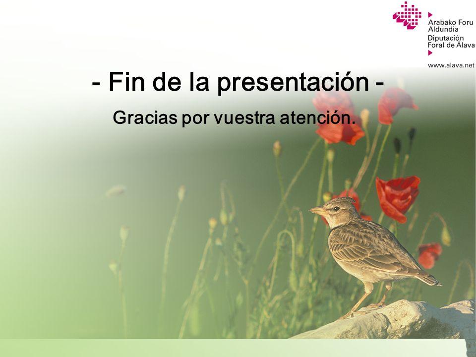 Servicio de Ayudas y Divulgación Agraria - Fin de la presentación - Gracias por vuestra atención.