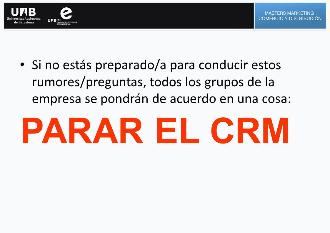 PARAR EL CRM