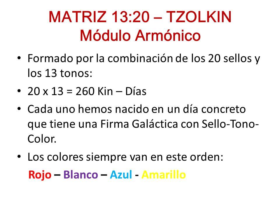 TZOLKIN - MÓDULO ARMÓNICO Calendario Sagrado Maya