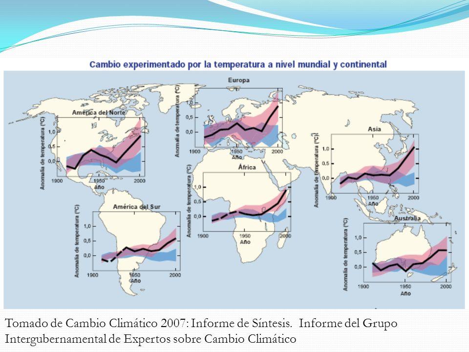 Diagnóstico Mundial Tomado de Cambio Climático 2007: Informe de Síntesis. Informe del Grupo Intergubernamental de Expertos sobre Cambio Climático