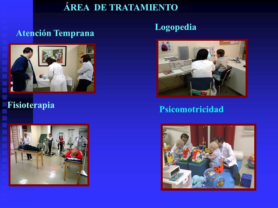 ÁREA DE TRATAMIENTO Atención Temprana Fisioterapia Logopedia Psicomotricidad
