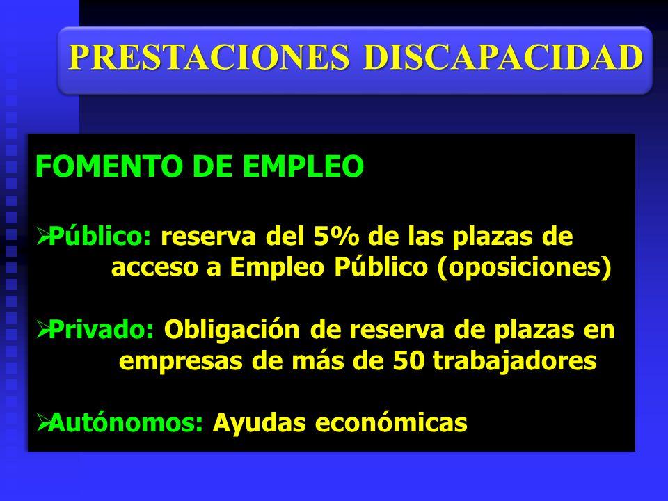 FOMENTO DE EMPLEO Público: reserva del 5% de las plazas de Público: reserva del 5% de las plazas de acceso a Empleo Público (oposiciones) acceso a Emp