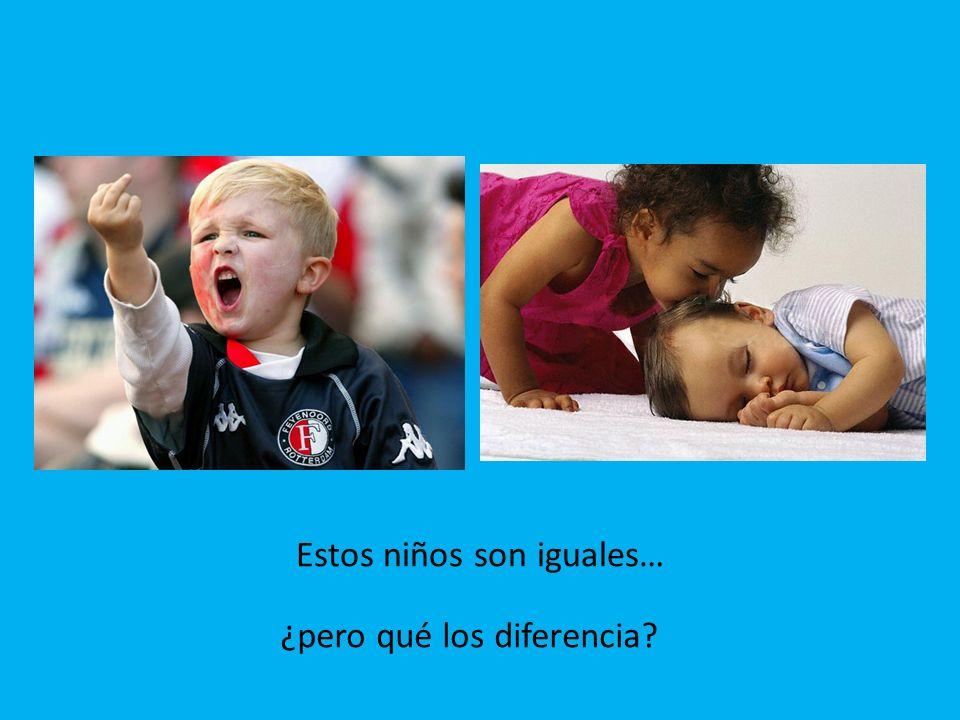 Estos niños son iguales… ¿pero qué los diferencia